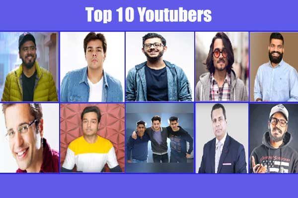 Top 10 youtubers of India who crossed 10 million subscribers